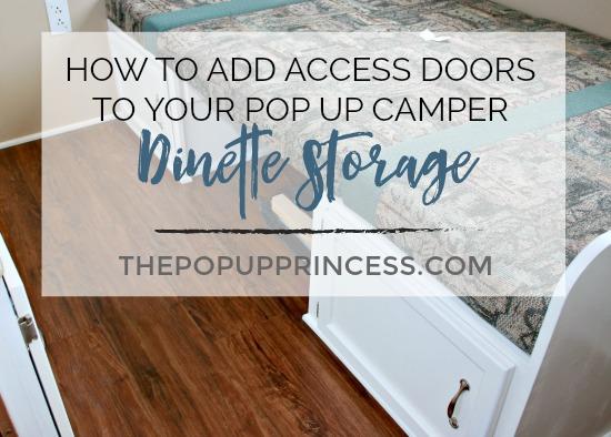 Camper Dinette Storage