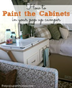 Pop Up Camper Remodel:  Painting the Cabinets