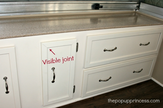Pop Up Cabinets : Pop up camper remodel painting the cabinets