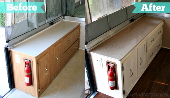 Pop Up Camper Countertop Remodel