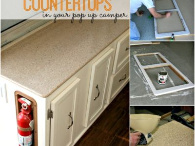 Pop Up Camper Remodel:  Replacing the Countertops