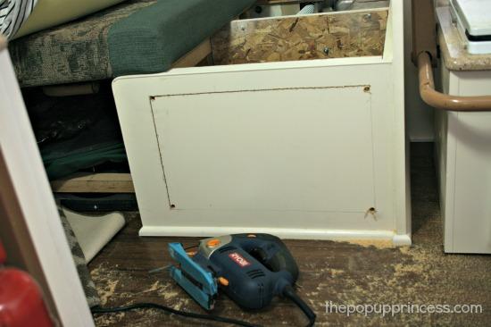 Cutting an access door