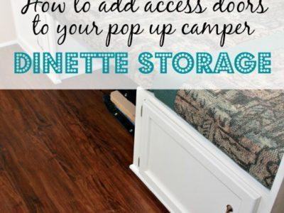 Pop Up Camper Remodel:  Doors for the Dinette Storage