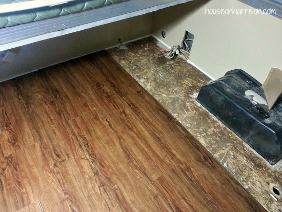 Pop Up Camper Remodel Flooring