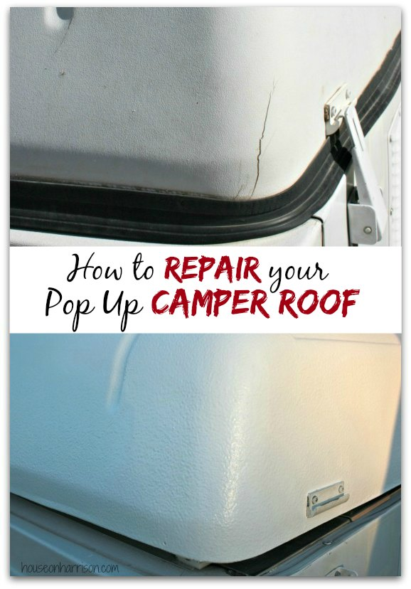 Pop Up Camper Remodel Repairing A Coleman Abs Roof The