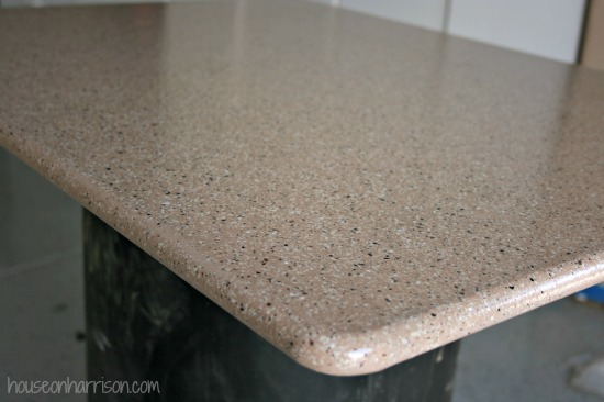 is the 3/4? MDF table top we cut. It looks like a real countertop ...