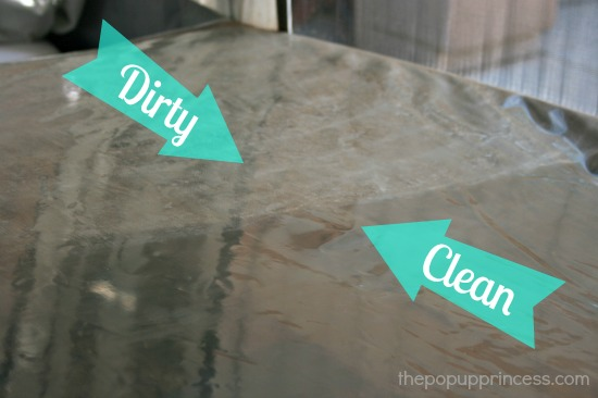 Cleaning clear vinyl camper windows