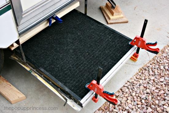 Adding Carpet to Pop Up Step