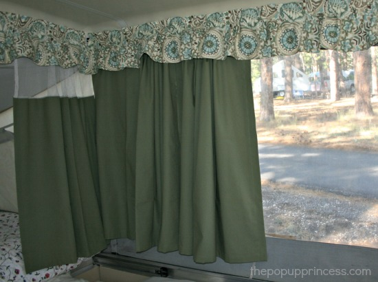 Camper Curtain Rod Ideas
