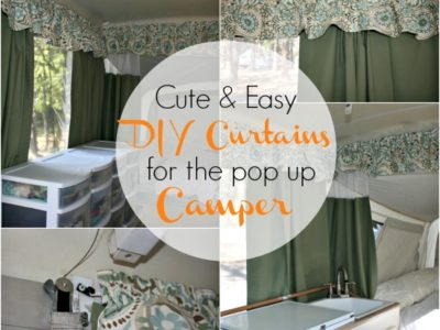 Pop Up Camper Makeover:  The Curtains {Part 1}