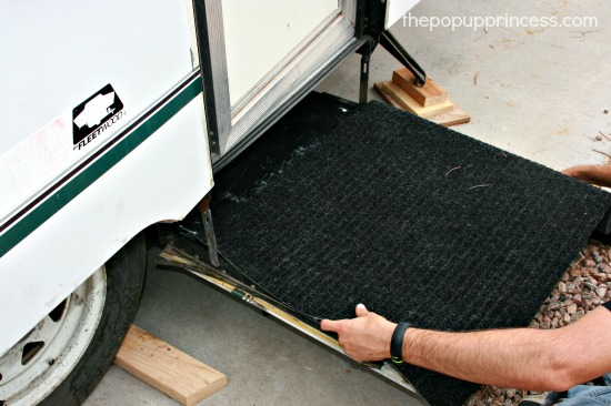 Adding Carpet to Camper Step