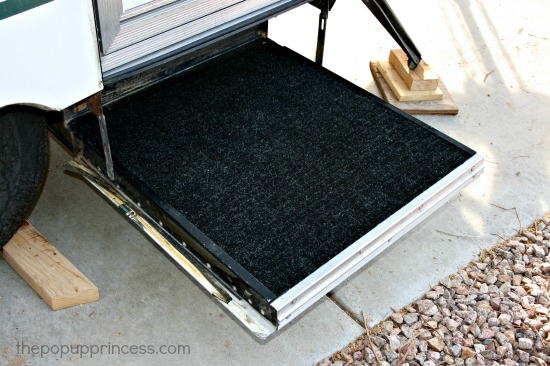 Carpeted Pop Up Step