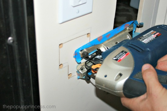Cutting opening for a voltmeter