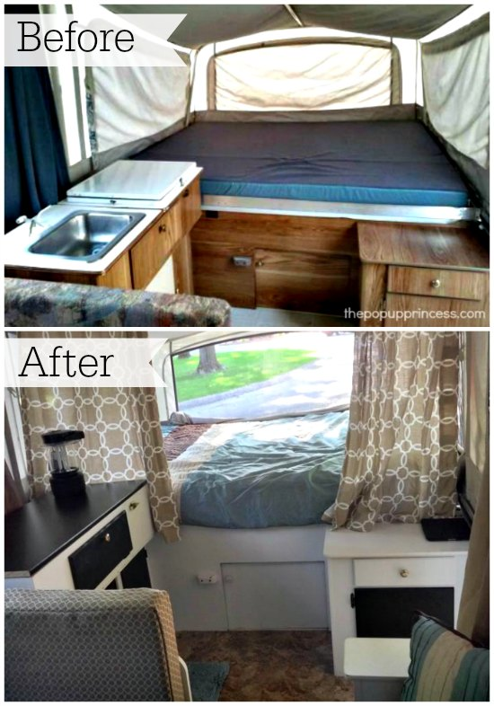 Cassie Ps Pop Up Camper Makeover The Pop Up Princess - Travel trailer bathroom remodel