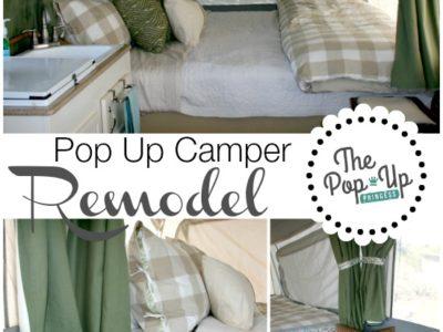 Pop Up Camper Remodel:  The Big Reveal!