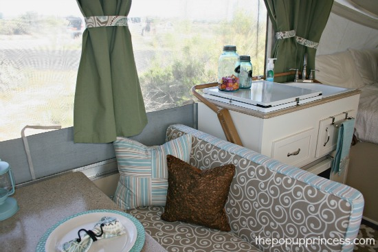 Pop Up Camper Dinette. Pop Up Camper Remodel  The Big Reveal    The Pop Up Princess