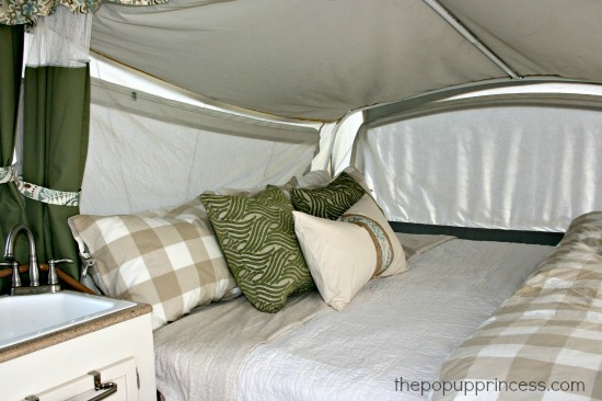 How We Sleep {Comfortably} in Our Pop Up Camper - The Pop Up
