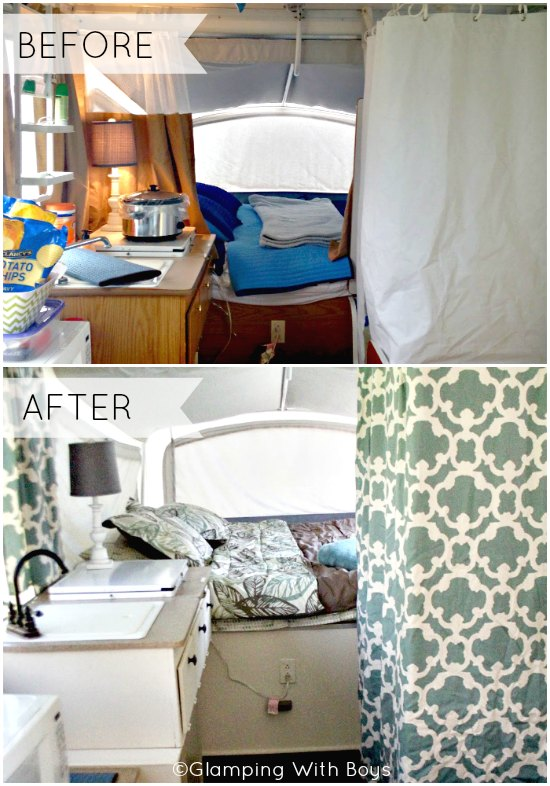 Pop Up Camper Before and After