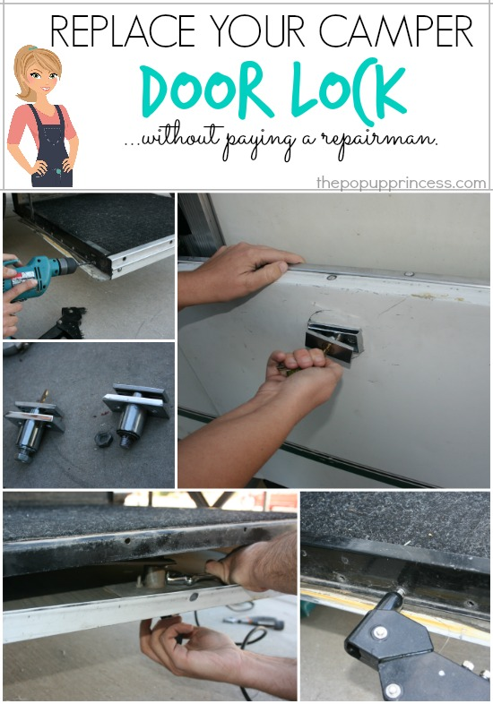 Replace the Lock on Your Pop Up Camper Stepper Door {Without Hiring