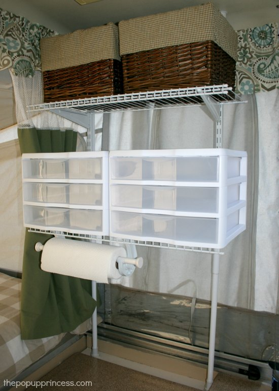Pop Up Camper Shelving