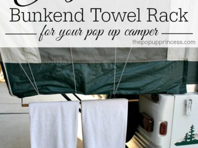 Pop Up Camper Mods:  Bunkend Towel Rack