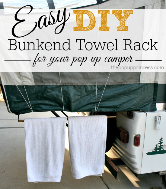 Pop Up Camper Bunkend Towel Rack
