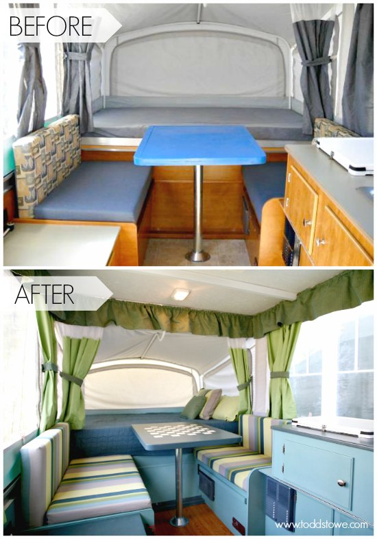 Todd 39 S Pop Up Camper Makeover The Pop Up Princess