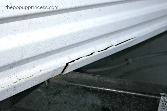 Cracked ABS Camper Panels