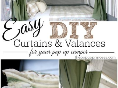 Pop Up Camper Curtains & Valances {Part 2}