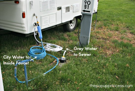 Gray Water System on a Pop Up Trailer