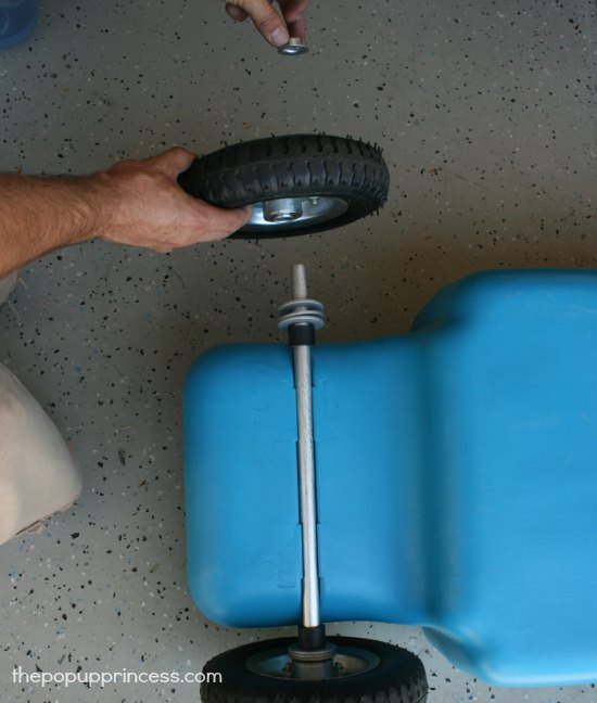 Replacing Tires on a Gray Water Tote Tank
