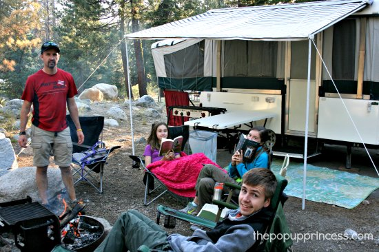 Pop Up Camping at Sequoia National Park
