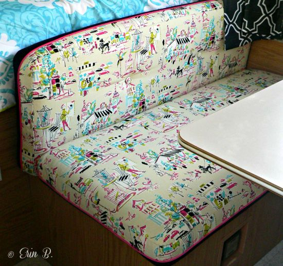 Reupholstering Pop Up Camper Cushions