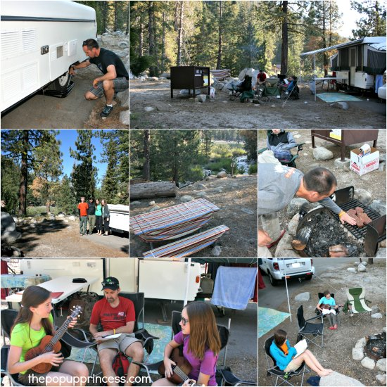 Pop Up Camping in Sequoia National Park