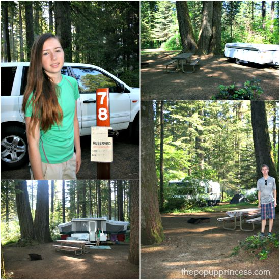 Pop Up Camping in Silver Falls, Oregon