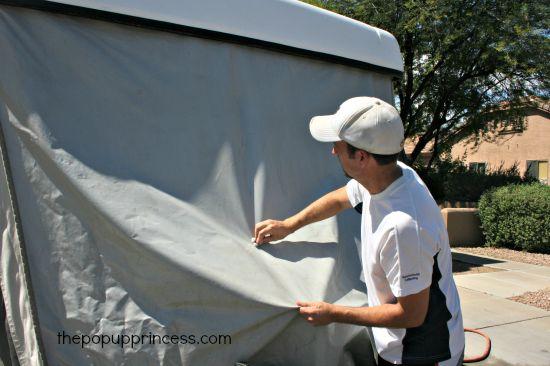 Cleaning Pop Up Camper Vinyl
