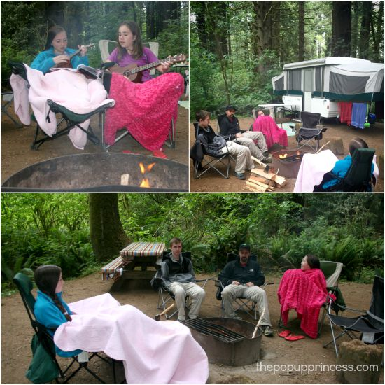 Camping at Elk Prairie Redwoods