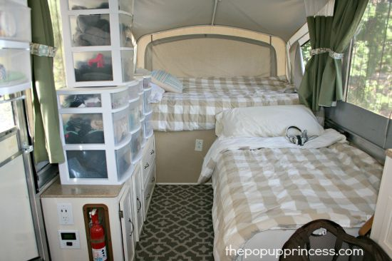 Pop Up Camper Organization