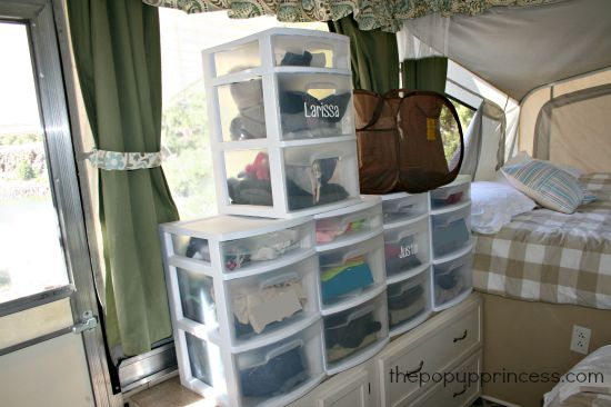 Organizing your pop up camper