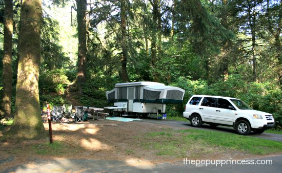 Pop Up Camping at Fort Stevens