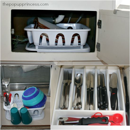 Kitchen Storage in a Pop Up Camper