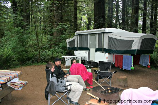 Camping at Prairie Creek Redwoods