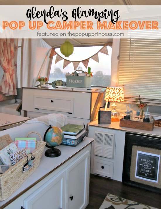 Glamping Pop Up Camper Makeover