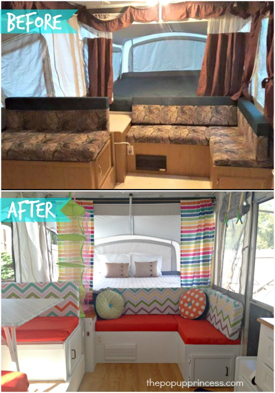 Leigh S Pop Up Camper Makeover The Pop Up Princess
