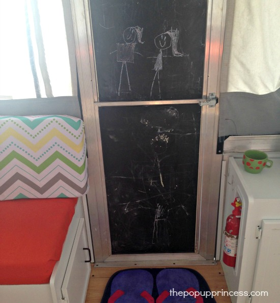 Tent Trailer Makeover Door