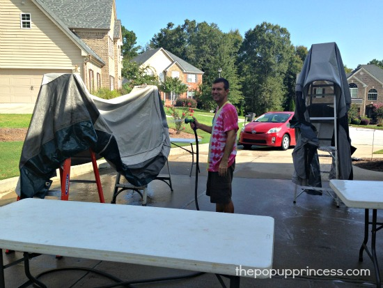 how to clean the outside of a pop up camper