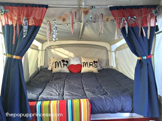 Pop Up Camper Bedroom