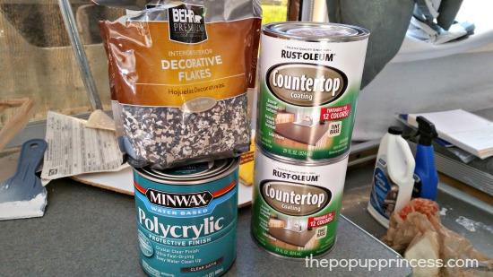 Rustoleum Countertop Paint With Flakes : Hollies Pop Up Camper Makeover - The Pop Up Princess