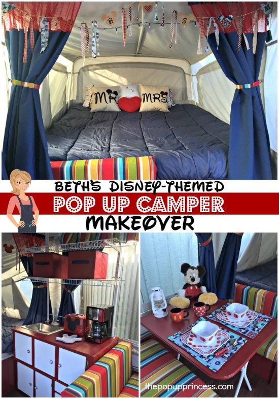 Disney Themed Pop Up Camper Remodel