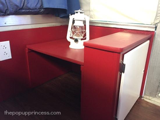 Pop Up Camper Potty Cabinet